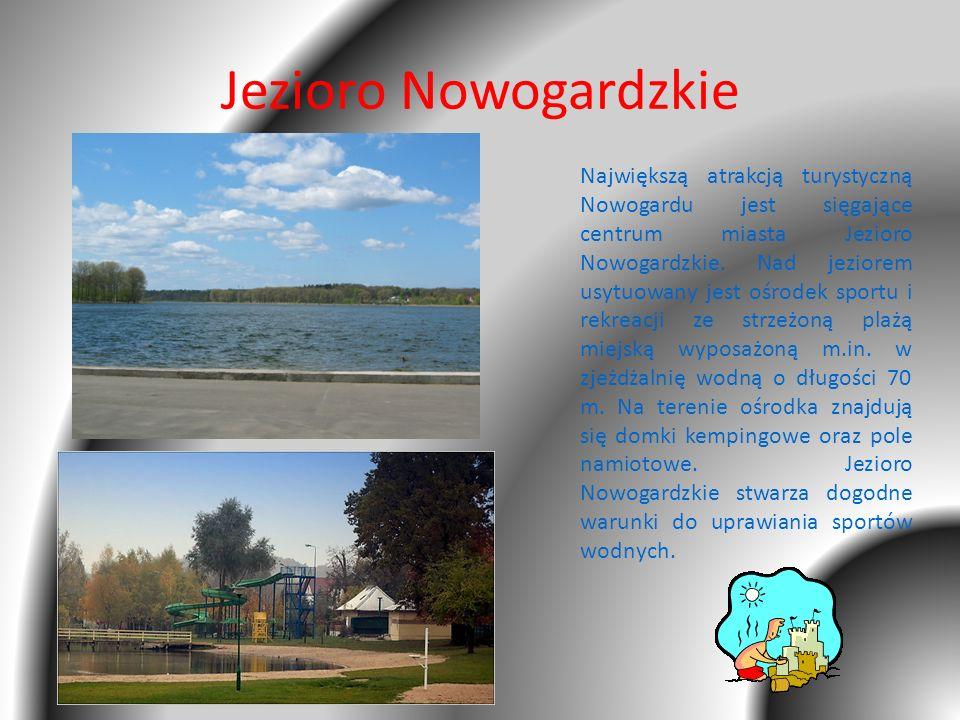 Jezioro Nowogardzkie Największą atrakcją turystyczną Nowogardu jest sięgające centrum miasta Jezioro Nowogardzkie. Nad jeziorem usytuowany jest ośrode