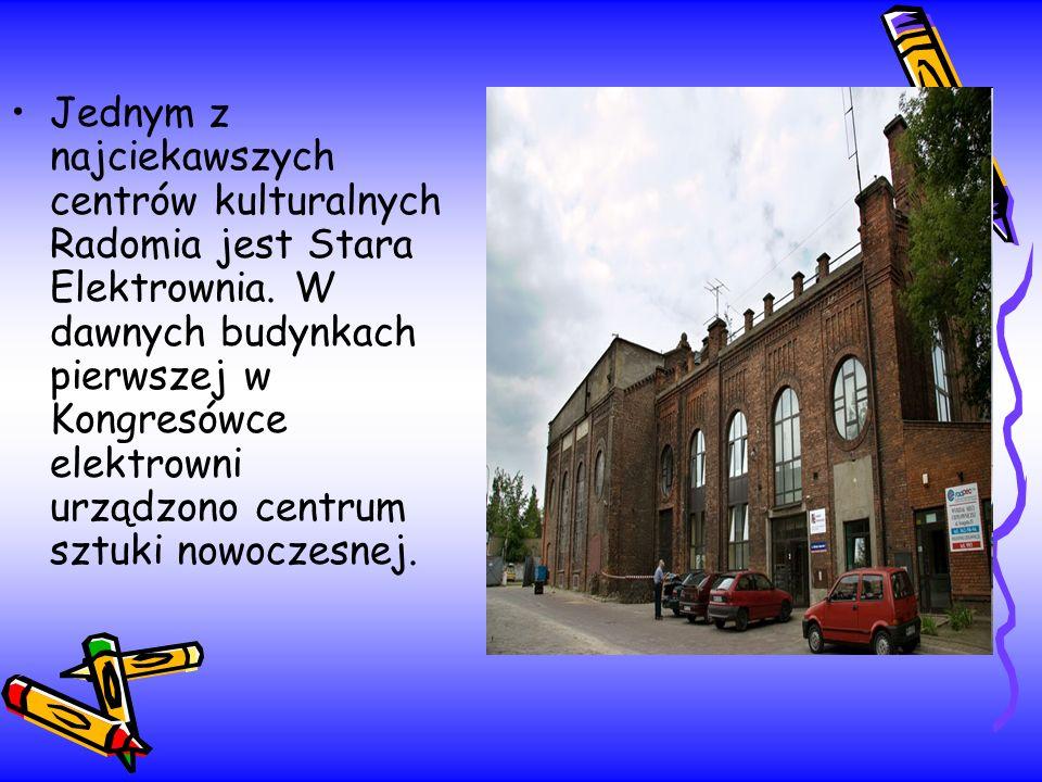 Jednym z najciekawszych centrów kulturalnych Radomia jest Stara Elektrownia. W dawnych budynkach pierwszej w Kongresówce elektrowni urządzono centrum