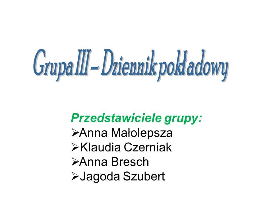 Przedstawiciele grupy: Anna Małolepsza Klaudia Czerniak Anna Bresch Jagoda Szubert