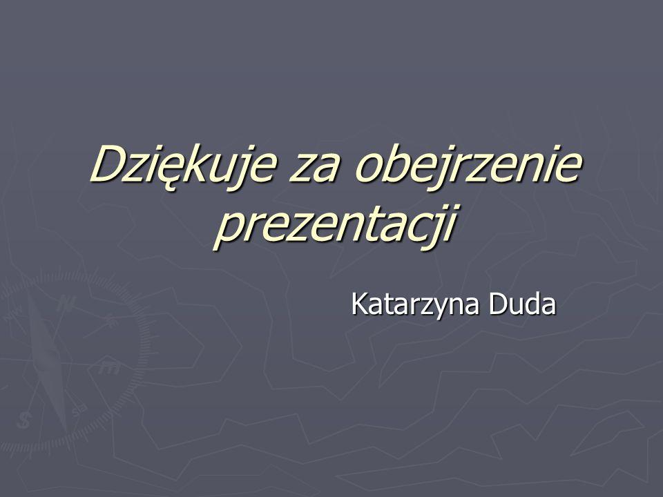 Dziękuje za obejrzenie prezentacji Katarzyna Duda
