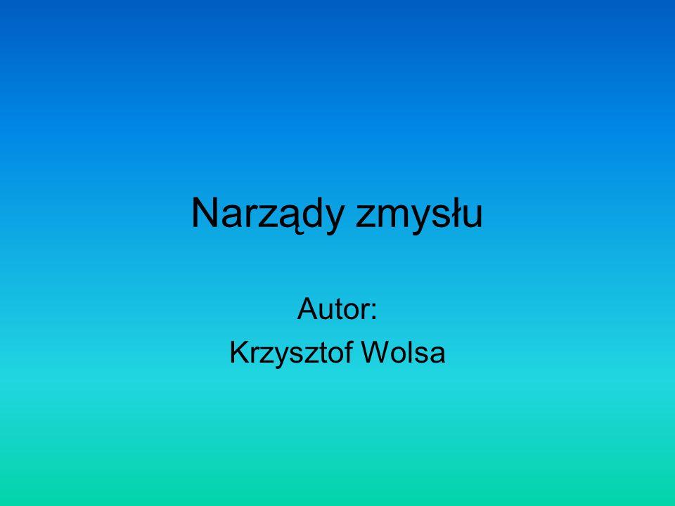 Narządy zmysłu Autor: Krzysztof Wolsa