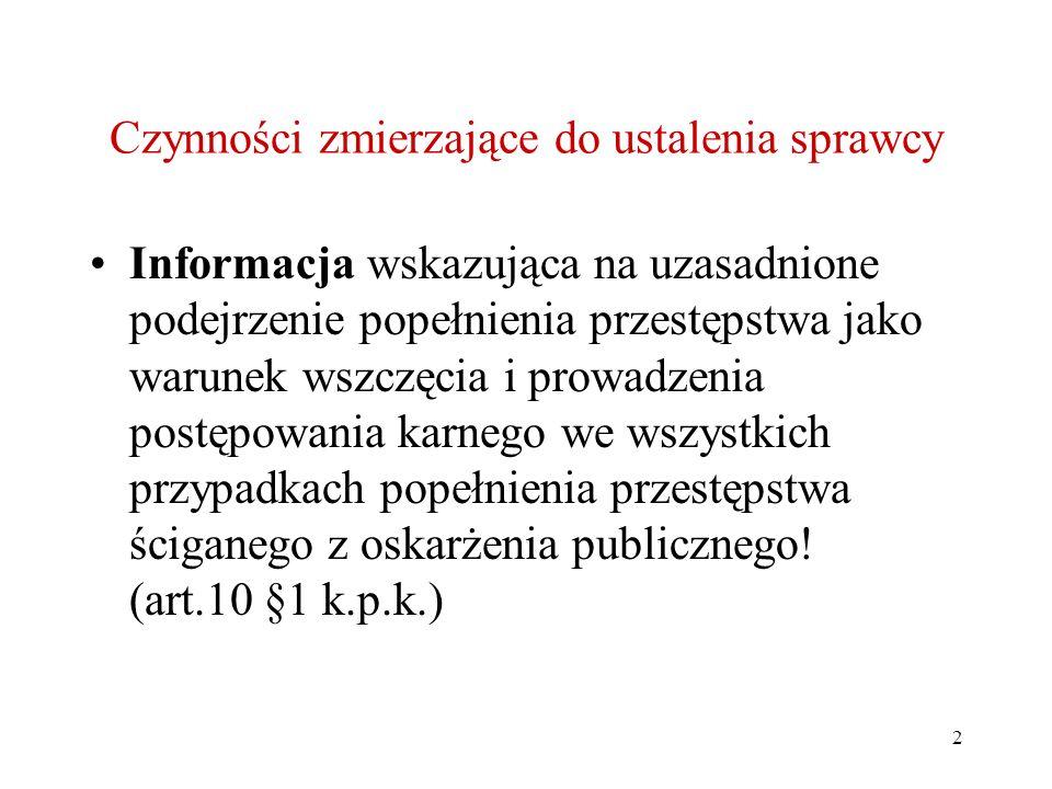 23 Działania zmierzające do ujęcia sprawcy Pułapka kryminalistyczna – środek techniki kryminalistycznej, tj.