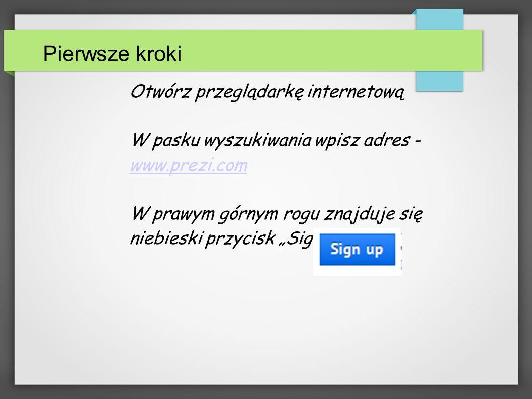 Rejestracja Wybierz bezpłatne konto (pierwsze z lewej) i rozpocznij rejestrację: