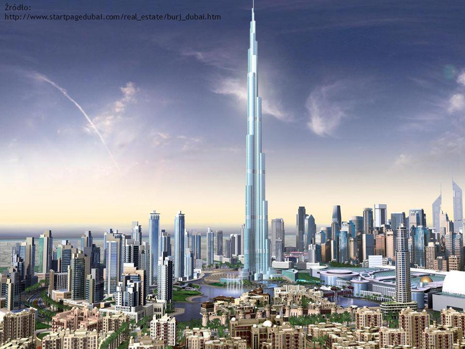 Źródło: http://www.startpagedubai.com/real_estate/burj_dubai.htm