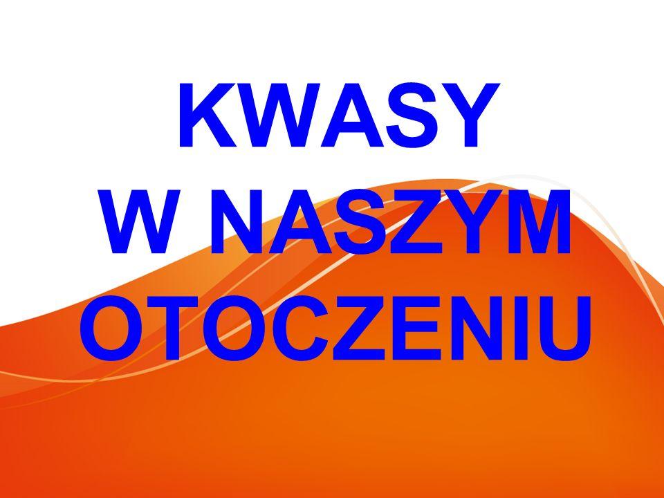 Kwasy organiczne Kwasy organiczne- organiczne związki chemiczne wykazujące właściwości kwasowe.