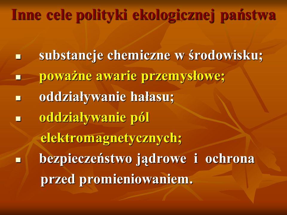 Inne cele polityki ekologicznej państwa substancje chemiczne w środowisku; substancje chemiczne w środowisku; poważne awarie przemysłowe; poważne awar