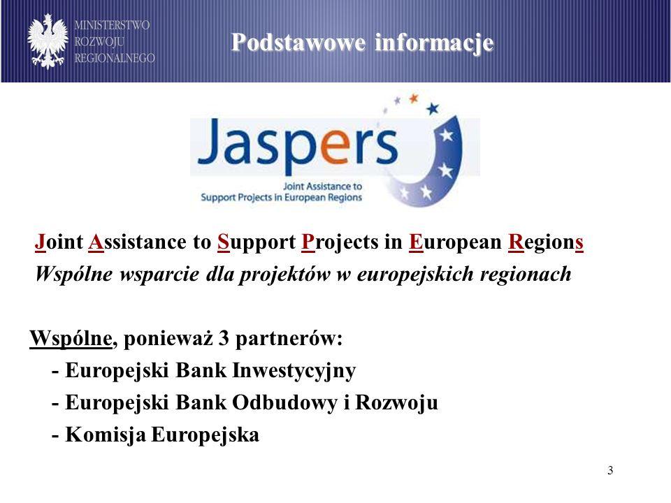 3 Joint Assistance to Support Projects in European Regions Wspólne wsparcie dla projektów w europejskich regionach Wspólne, ponieważ 3 partnerów: - Eu