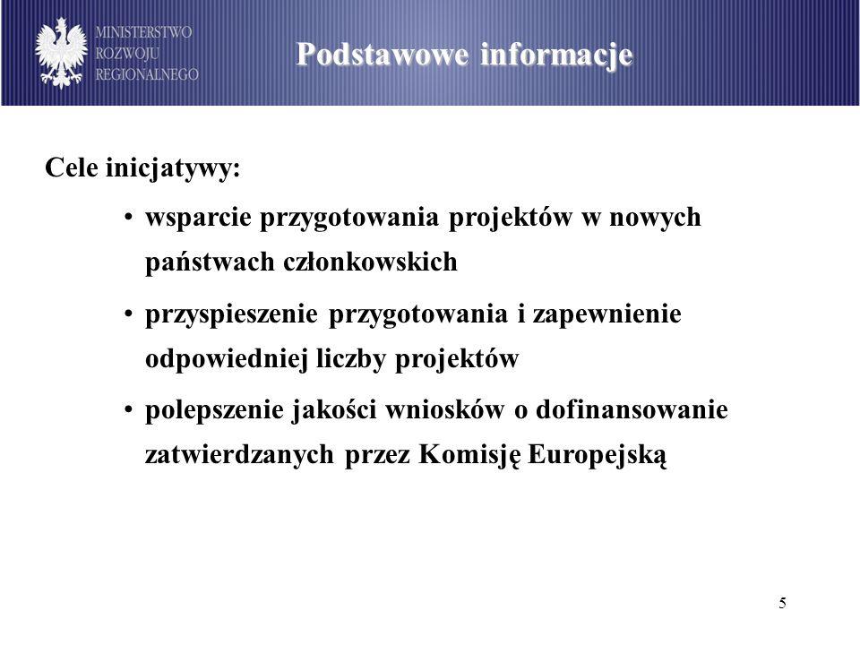6 Alokacja środków w PO IiŚ Podstawowe informacje Początek funkcjonowania: pomysł - koniec 2005 r.