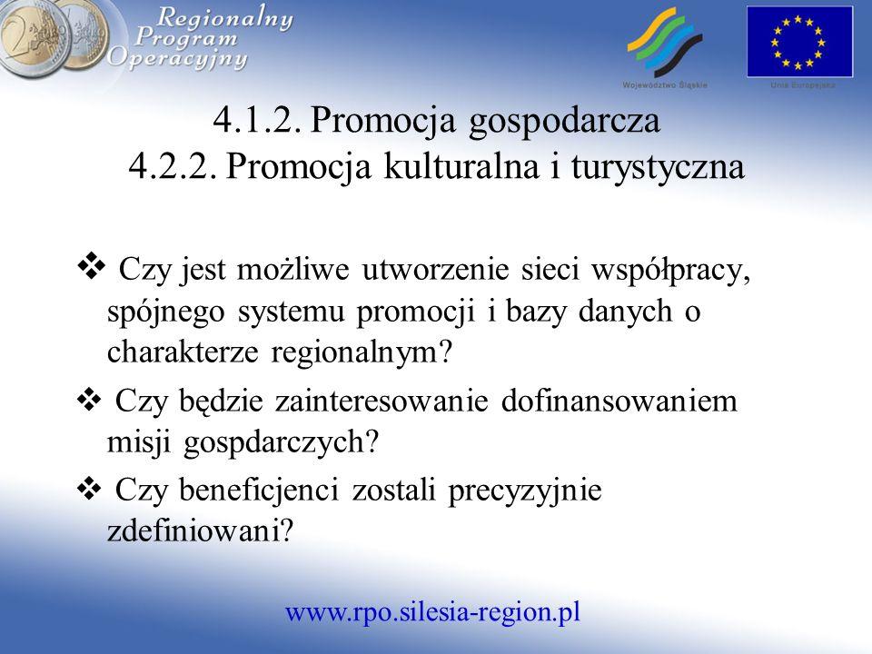 www.rpo.silesia-region.pl Czy jest możliwe utworzenie sieci współpracy, spójnego systemu promocji i bazy danych o charakterze regionalnym.
