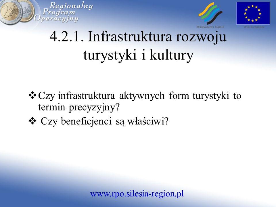 www.rpo.silesia-region.pl Czy infrastruktura aktywnych form turystyki to termin precyzyjny.
