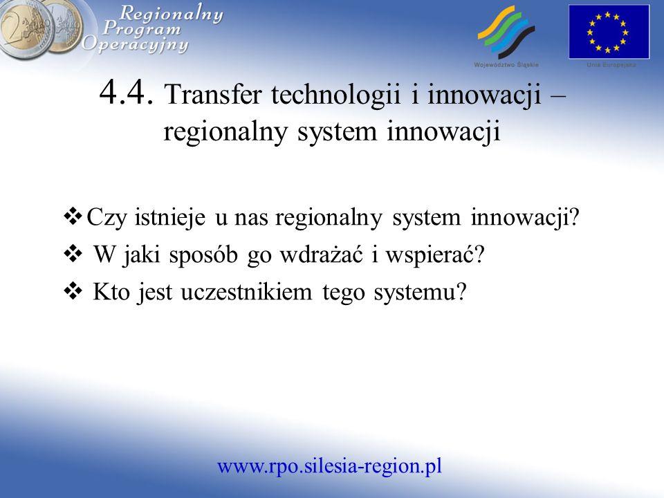 www.rpo.silesia-region.pl Czy istnieje u nas regionalny system innowacji.