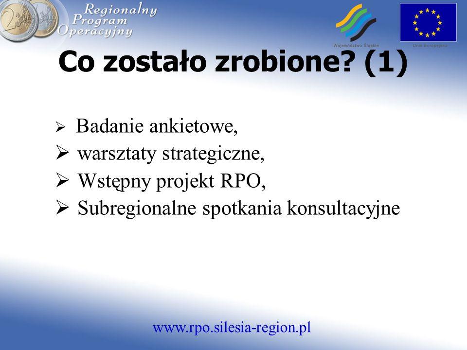 www.rpo.silesia-region.pl Co zostało zrobione.