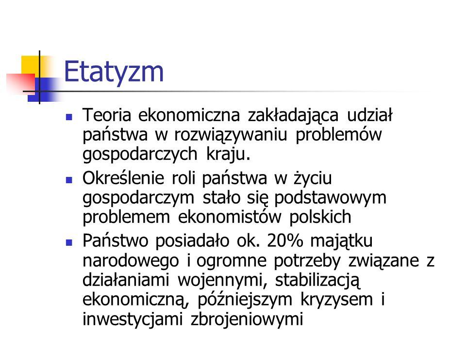 Kierunek teoretyczny dominował nadal w środowisku ekonomistów krakowskich. Nurt historyczny zachował swą pozycję na Uniwersytecie Lwowskim. W nowo pow
