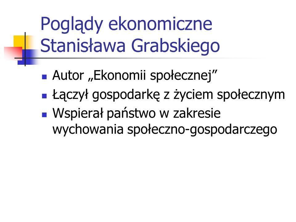 Stanisław Grabski 1871-1949 (2/2) Starszy brat Władysława, słynnego reformatora waluty polskiej Studiował w Warszawie, Berlinie, Lwowie, Paryżu i Bern