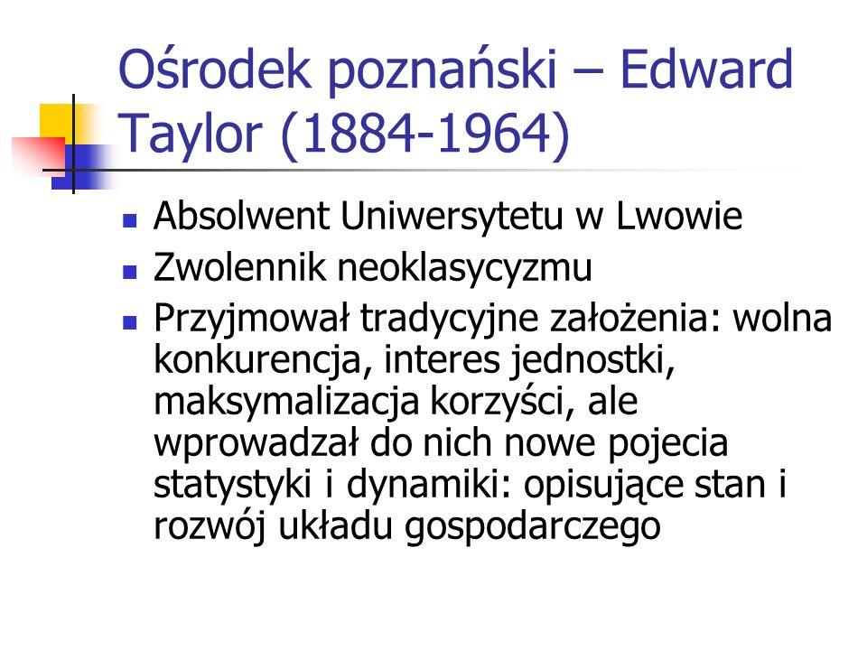 Adam Krzyżanowski 1873-1963 Prawnik z wykształcenia, studiował w Krakowie, Brnie i Lipsku Autor dzieł Zasady ekonomiki (1919 r.) i Nauka skarbowości (
