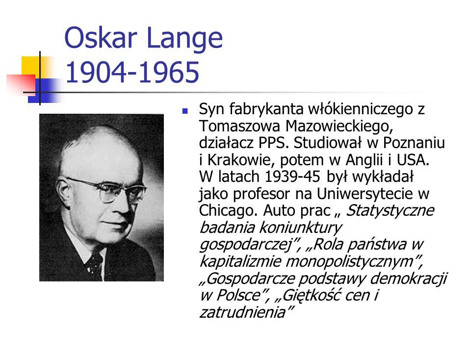 Michał Kalecki (1899-1970) Wyjaśnił mechanizm cyklu gospodarczego Zainteresowanie jego pracą wzrosło po wyjeździe autora do Anglii i przełożeniu jej n