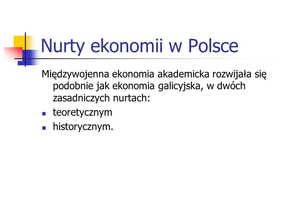 Potencjał ekonomiczny Polski Powołano specjalne placówki naukowe: Instytut Gospodarstwa Społecznego, Instytut Badania Koniunktur Gospodarczych i Cen,