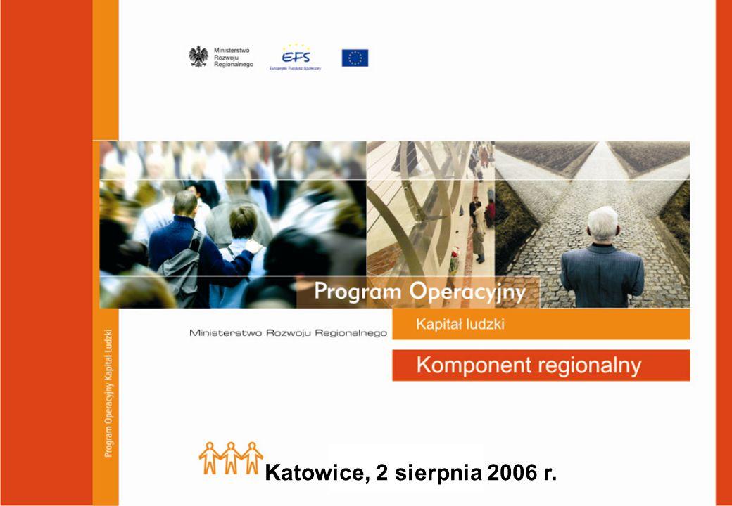 Program Operacyjny Kapitał Ludzki Cel główny PO Kapitał Ludzki wynikający z Narodowych Strategicznych Ram Odniesienia 2007 - 2013: Wzrost poziomu zatrudnienia i spójności społecznej Cele szczegółowe:  Dopasowanie zasobów pracy do zmieniającej się sytuacji na rynku pracy  Zmniejszenie obszarów wykluczenia społecznego  Podniesienie poziomu i jakości wykształcenia społeczeństwa  Wsparacie dla budowy sprawnego i partnerskiego państwa  Wzrost spójności terytorialnej