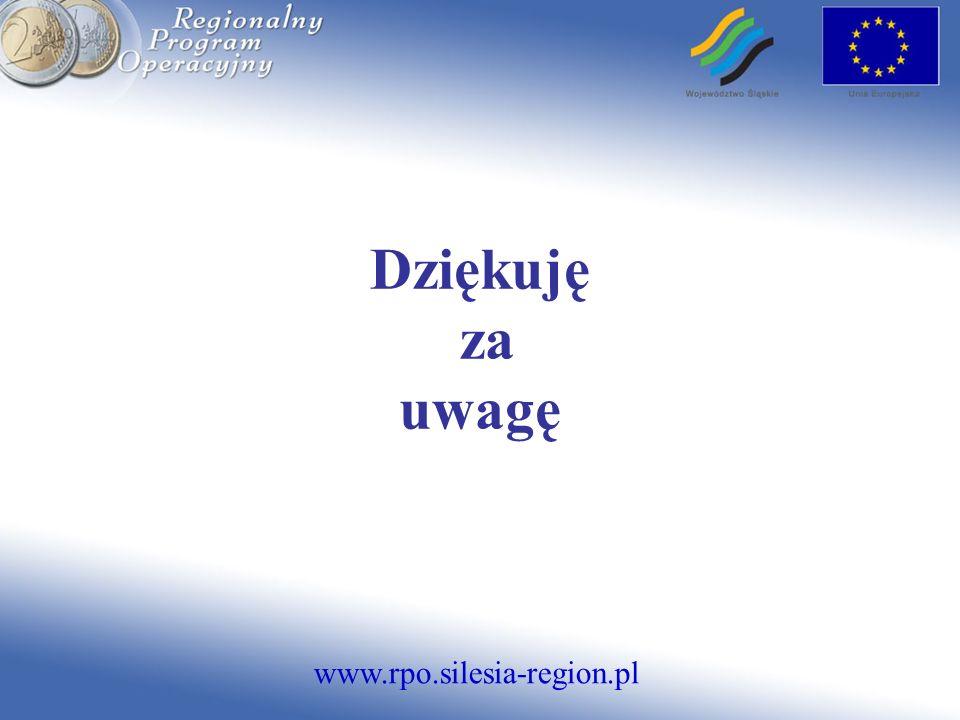 www.rpo.silesia-region.pl Dziękuję za uwagę