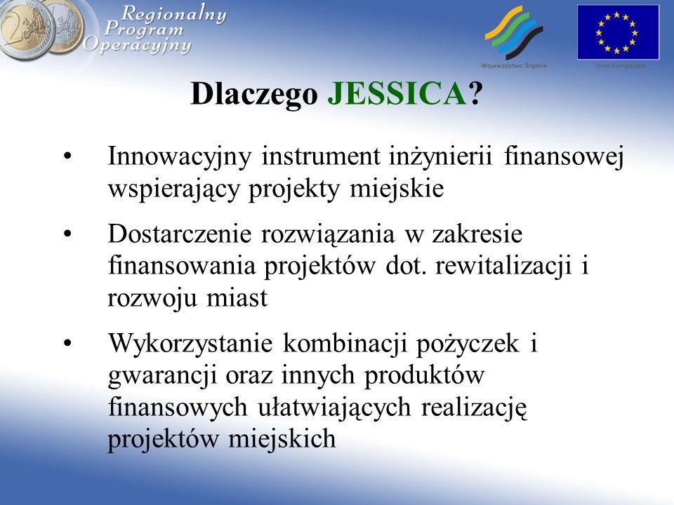 Dlaczego JESSICA? Innowacyjny instrument inżynierii finansowej wspierający projekty miejskie Dostarczenie rozwiązania w zakresie finansowania projektó