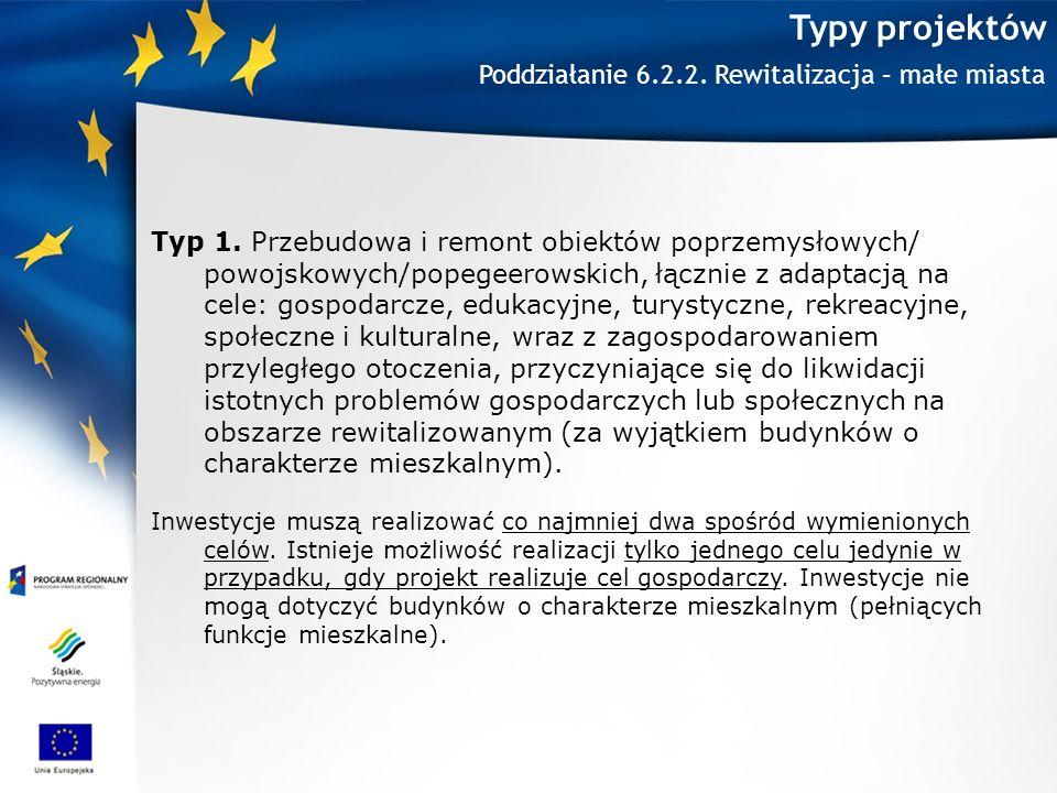 Typy projektów Typ 1.