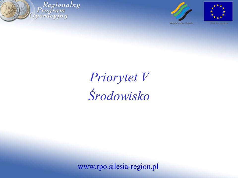 www.rpo.silesia-region.pl Priorytet V Środowisko