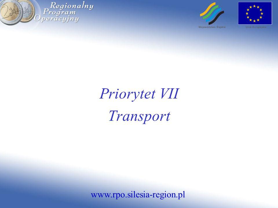 www.rpo.silesia-region.pl Priorytet VII Transport