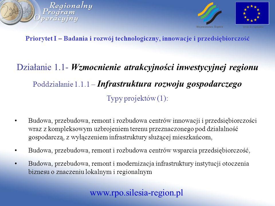 www.rpo.silesia-region.pl Priorytet V - Środowisko Działanie 5.2.