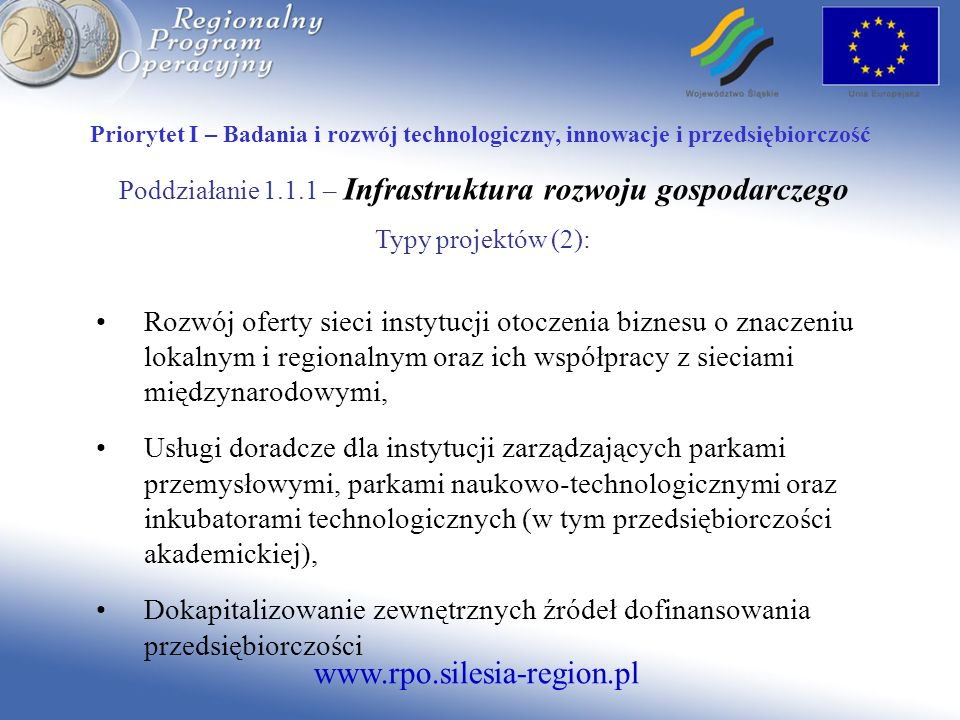 www.rpo.silesia-region.pl Priorytet V - Środowisko Działanie 5.3.