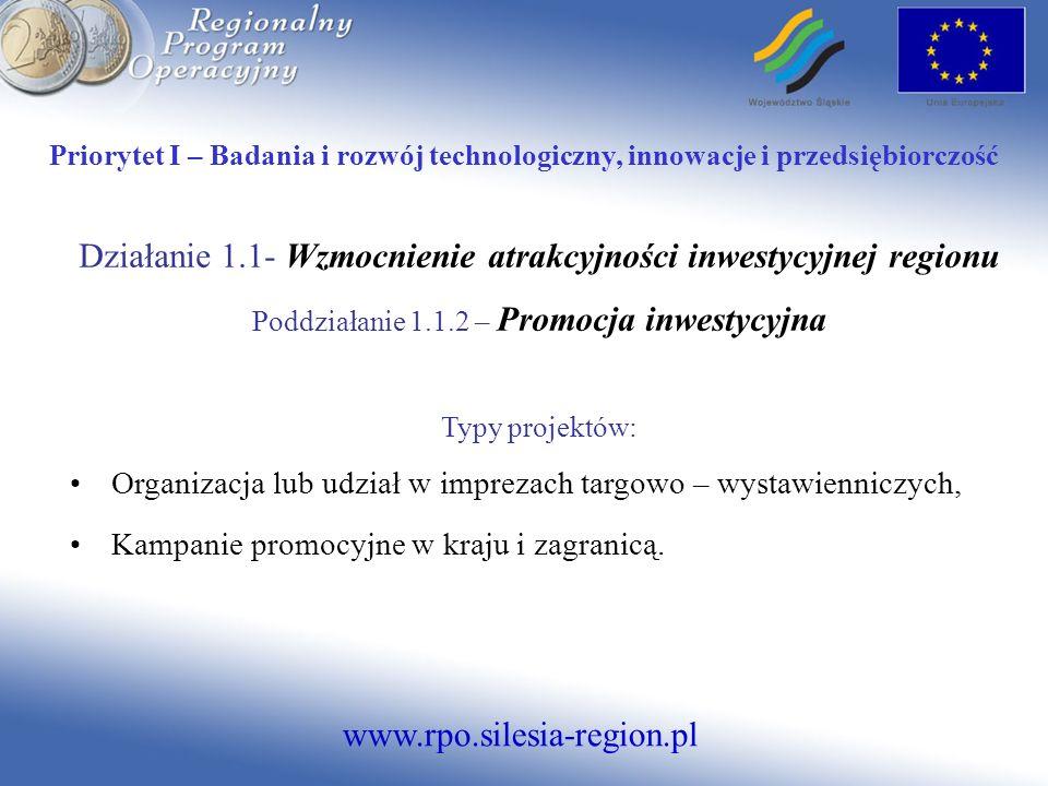 www.rpo.silesia-region.pl Priorytet V - Środowisko Działanie 5.4.