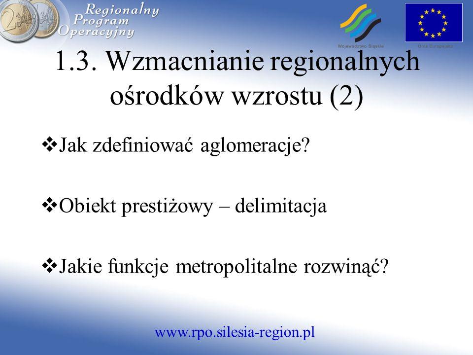 www.rpo.silesia-region.pl Jak zdefiniować aglomeracje.