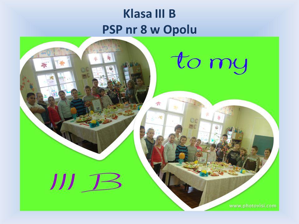 Klasa III B PSP nr 8 w Opolu