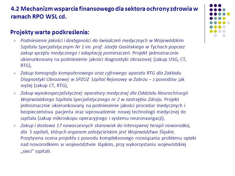 Projekty warte podkreślenia: Podniesienie jakości i dostępności do świadczeń medycznych w Wojewódzkim Szpitalu Specjalistycznym Nr 1 im. prof. Józefa