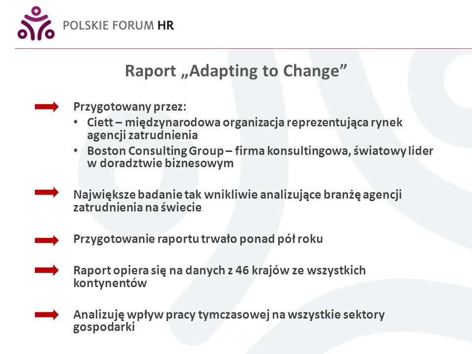Agencje zatrudnienia pomagają w znalezieniu zatrudnienia Poprzez pomoc w znalezieniu zatrudnienia agencje przyczyniają się do zmniejszenia segmentacji na rynku pracy (%) 100 50 0 Zatrudniony na czas nieokreślony Zatrudniony na czas określony Pracownik tymczasowy Bierny zawodowo Student Bezrobotny Inni CzechyFrancjaHolandia 1 NorwegiaSzwecja 1 Szwajcaria Komentarz: dane za 2010 (jeśli nie podano inaczej) 1.