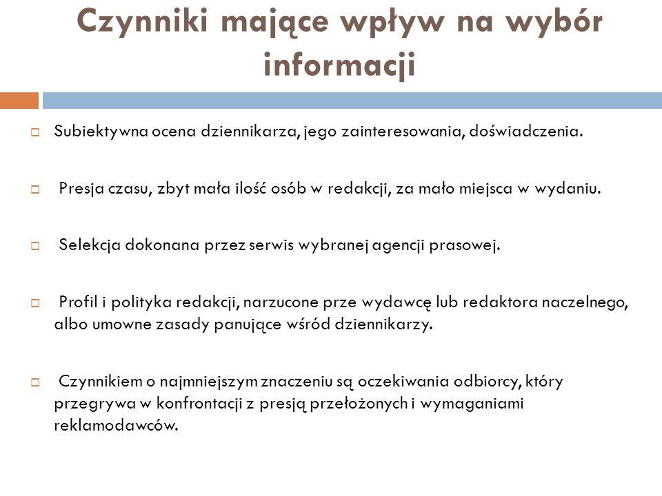 Szum informacyjny… … nadmiar informacji utrudniający wyodrębnienie informacji prawdziwych i istotnych