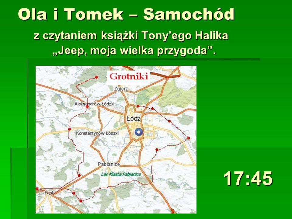 Ola i Tomek – Samochód z czytaniem książki Tonyego Halika Jeep, moja wielka przygoda. 17:45