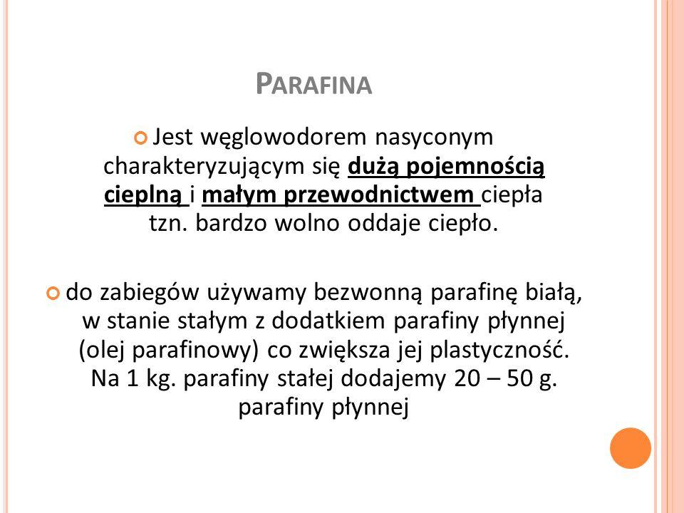C HARAKTERYSTYKA Temp.topnienia – 45 – 50 O C Temp.