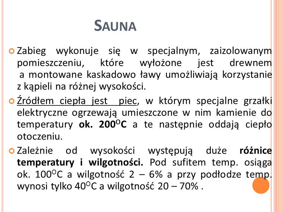 Zasadniczą cechą sauny jest naprzemienne nagrzewanie i ochładzanie ustroju.