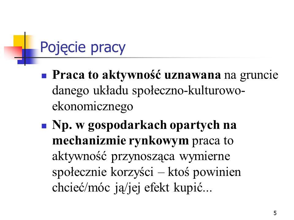 26 Socjologiczne ujęcie pracy Socjologia przemysłu: - J.A.
