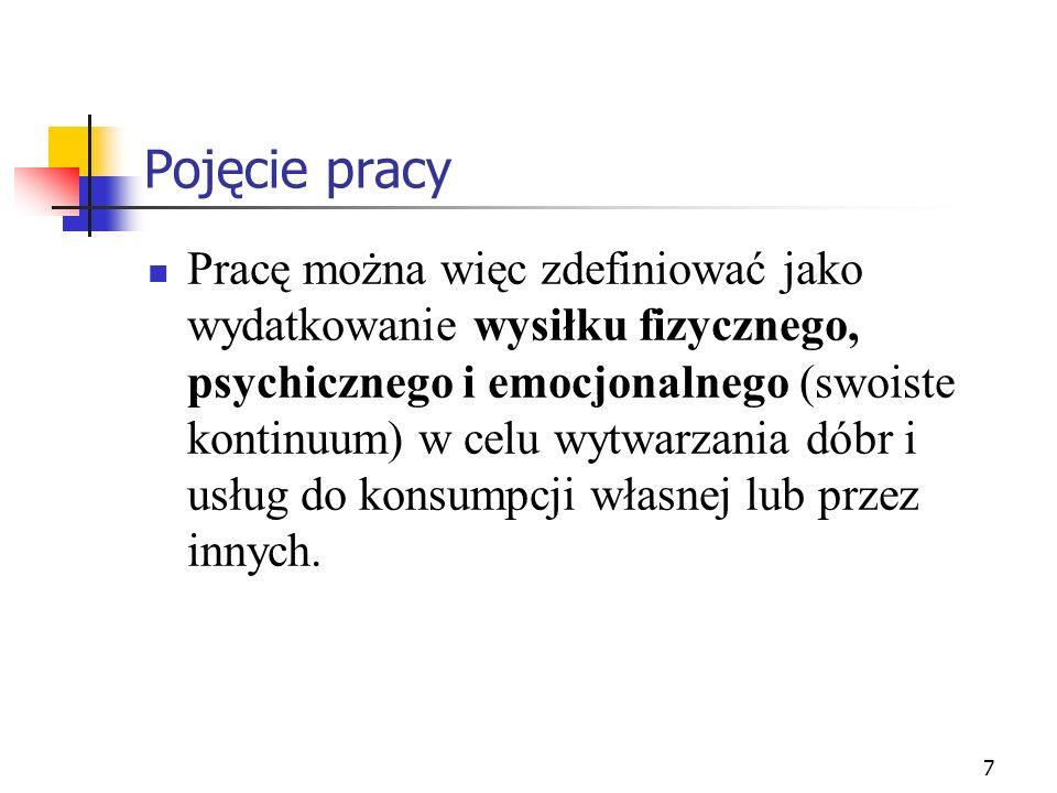 18 Praca jako wartość (w PRL i w RP) Diagnoza społeczna 2009 prof.