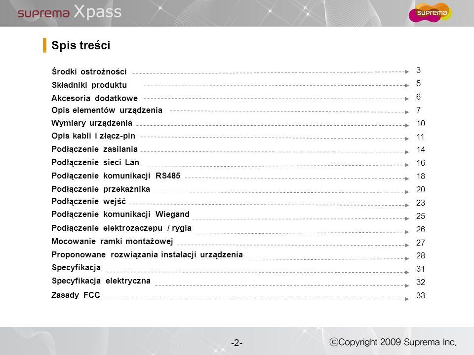 3 - -3- Lista powyżej służy unikaniu nieprawidłowości w działaniu urządzenia.