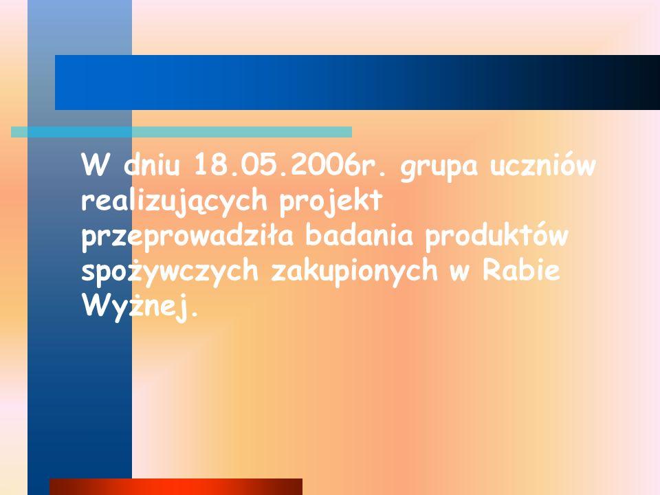 BADANIA OBEJMOWAŁY: WYKRYCIE POODSTAWOWYCH SKŁADNIKÓW POKARMOWYCH pH AZOTANY( III ) NO 2 - AZOTANY( V )NO 3 -