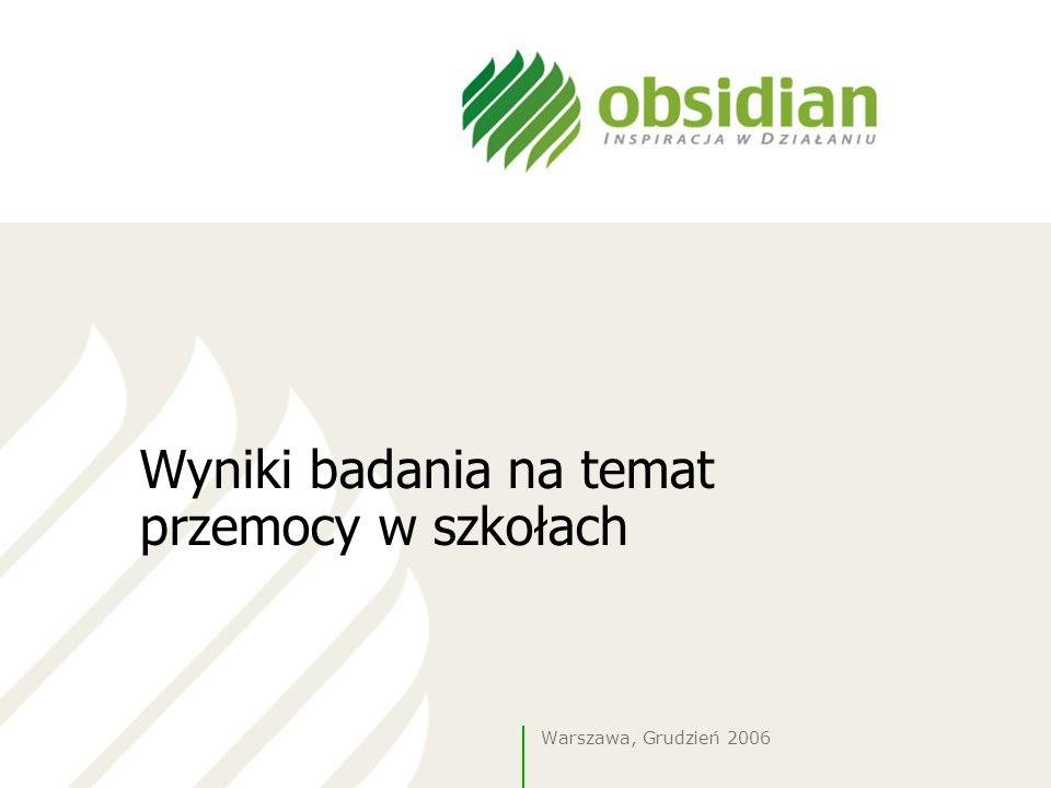 Wyniki badania na temat przemocy w szkołach Warszawa, Grudzień 2006