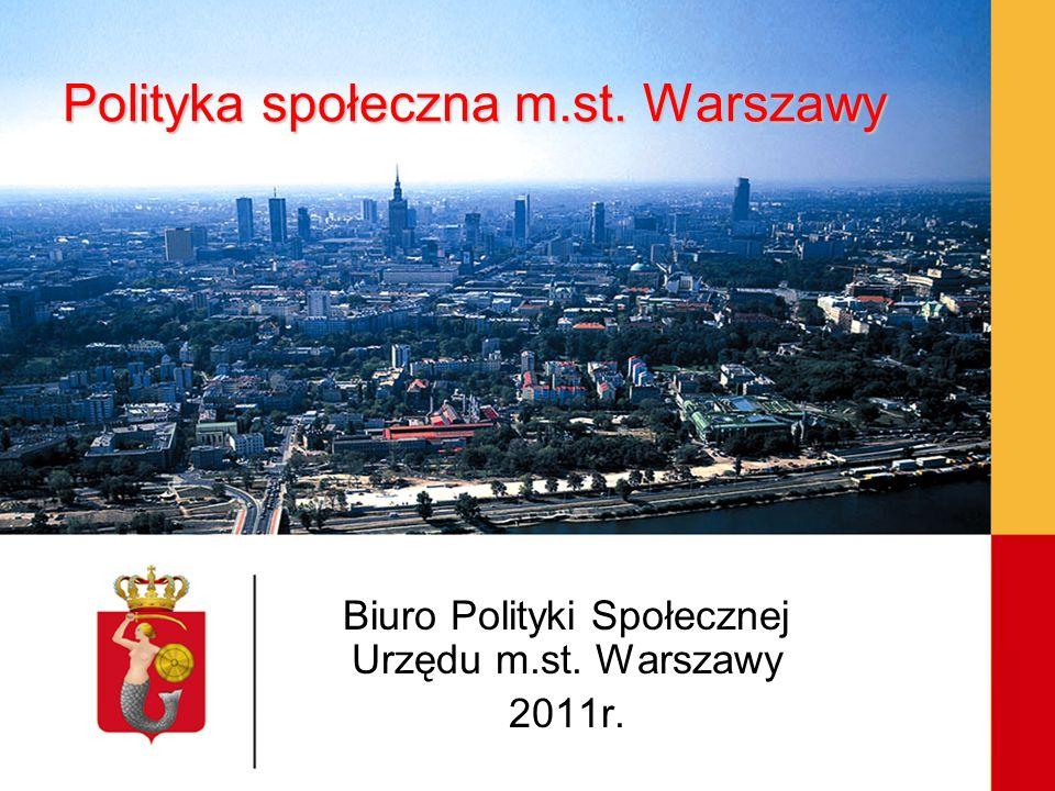 Polityka społeczna m.st. Warszawy Biuro Polityki Społecznej Urzędu m.st. Warszawy 2011r.