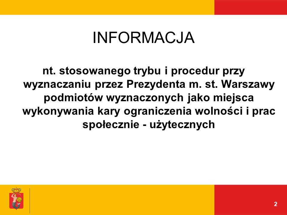 2 INFORMACJA nt. stosowanego trybu i procedur przy wyznaczaniu przez Prezydenta m.