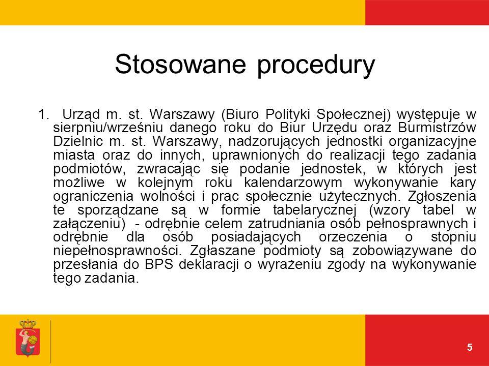5 Stosowane procedury 1. Urząd m. st.
