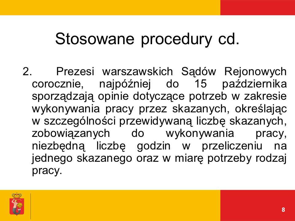 8 Stosowane procedury cd. 2.
