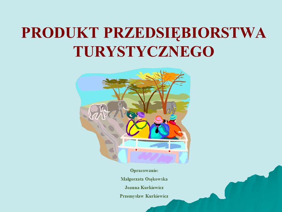 PRODUKT PRZEDSIĘBIORSTWA TURYSTYCZNEGO Opracowanie: Małgorzata Osękowska Joanna Kurkiewicz Przemysław Kurkiewicz