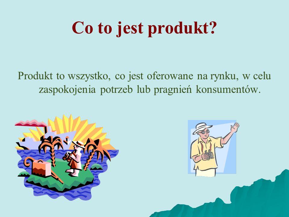 Produkt to wszystko, co jest oferowane na rynku, w celu zaspokojenia potrzeb lub pragnień konsumentów. Co to jest produkt?
