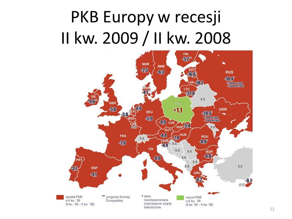 PKB Europy w recesji II kw. 2009 / II kw. 2008 11